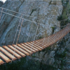 bridge rope-bridge-across-chasm wide