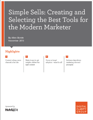 Simple Sells: Creating and Selecting the Best Tools for the Modern Marketer