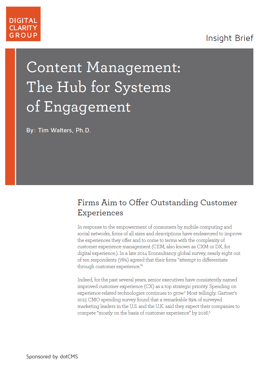 Content Management: The Hub for Systems of Engagement